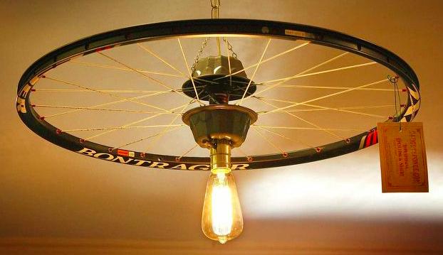 Une lampe avec âme cycliste